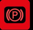 Elektronische parkeerrem ingeschakeld